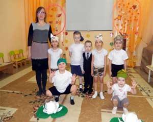Выступление агитбригады «Мы за здоровый образ жизни». Дети старшей группы.