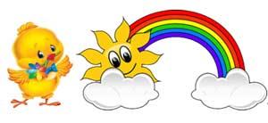 Конспект занятия для детей 3-4-х лет в период адаптации к дошкольному учреждению «Как цыпленок радугу искал»