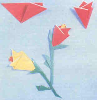 Поделки из бумаги - Бутоны роз