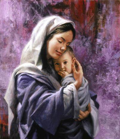 Детские стихи на День Матери - Спасибо, родная, что есть ты у нас