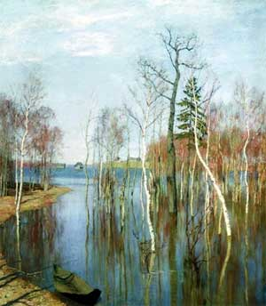 Конспект занятия по развитии речи.Тема: Рассматривание картины Ю. Левитана «Весна. Большая вода»