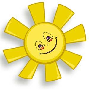 Игра «Солнышко и тучка»