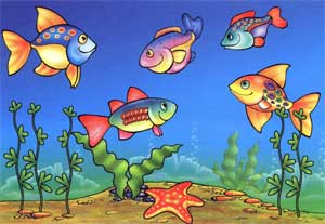 Конспект организации интегрированной непосредственно образовательной деятельности в старшей группе «Раз, два, три, четыре, пять – стали рыбки приплывать»
