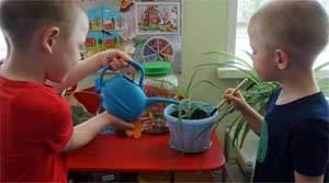 Конспект занятия в средней группе по ознакомлению с природой «Мир комнатных растений».