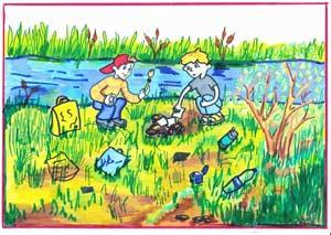 Формирование у детей познавательной активности и экологической культуры посредством исследовательской деятельности. Совместная деятельность с детьми «Очистка водоема».