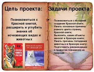 Эколого – исследовательский проект «Красная книга России»