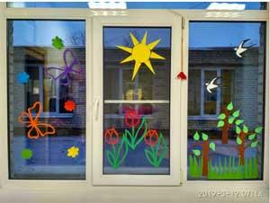 Весенние Вытынанки на окна