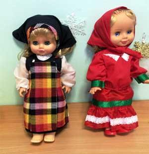 Дидактическая игра «Одень куклу в русский народный костюм»