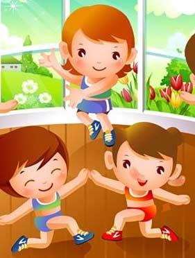 Авторские физкультурные разминки и подвижные игры для детей дошкольного возраста.