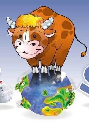 Влюбленная корова - стихи детям