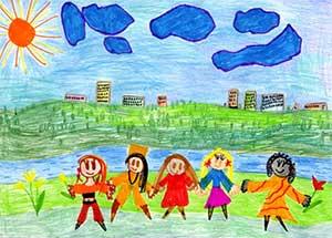 Интегрированное занятие по нравственному воспитанию для старшей группы на тему: «Портрет друга»