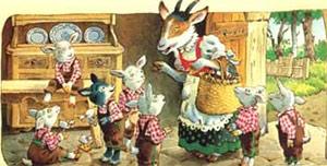Открытая интегрированная образовательная деятельность  по чтению художественной литературы и аппликации для детей средней  группы на тему:  «Волк и семеро козлят»