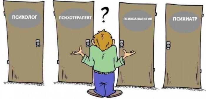Психолог психиатр психотерапевт психоаналитик парапсихолог  кто такие и есть ли между ними разница