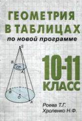Роева Т.Г., Хроленко Н.Ф. Геометрия в таблицах. 10-11 классы