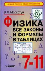 Моркотун В.Л. Физика. Все законы и формулы в таблицах. 7-11 классы